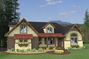 Craftsman Style House Plan - 4 Beds 3 Baths 2202 Sq/Ft Plan #51-511 Exterior - Front Elevation