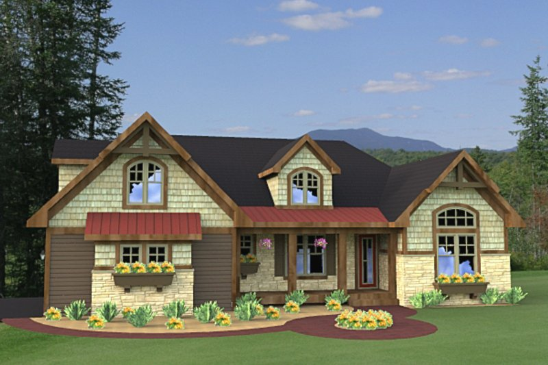 Craftsman Exterior - Front Elevation Plan #51-511