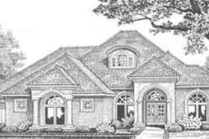 European Exterior - Front Elevation Plan #310-374