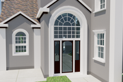 European Style House Plan - 4 Beds 4 Baths 3737 Sq/Ft Plan #542-15 Exterior - Front Elevation