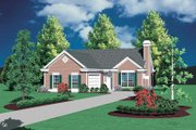 Cottage Style House Plan - 3 Beds 2 Baths 1292 Sq/Ft Plan #48-587 Exterior - Front Elevation