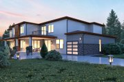 Contemporary Style House Plan - 5 Beds 5.5 Baths 6182 Sq/Ft Plan #1066-28 Exterior - Rear Elevation