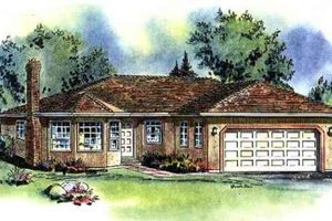 Ranch Exterior - Front Elevation Plan #18-107