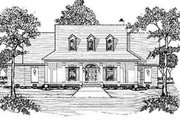Southern Style House Plan - 3 Beds 2.5 Baths 2464 Sq/Ft Plan #36-213 Exterior - Front Elevation