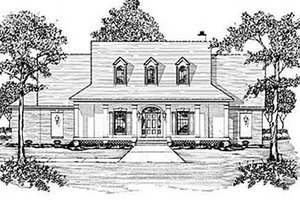 Southern Exterior - Front Elevation Plan #36-213