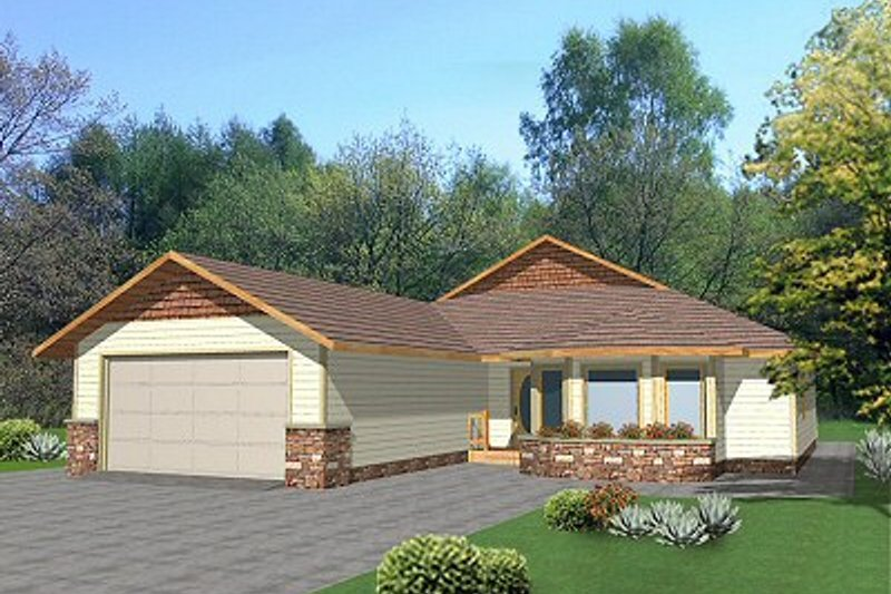 Traditional Exterior - Front Elevation Plan #117-186 - Houseplans.com