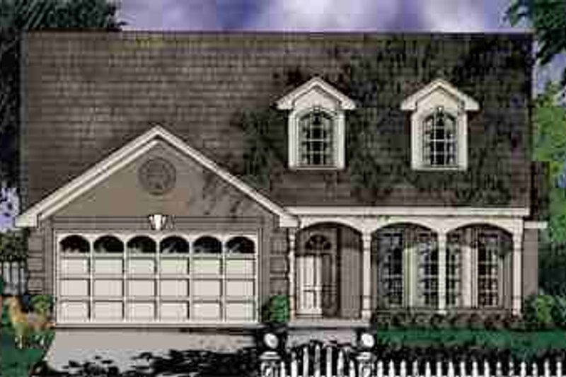 Traditional Exterior - Front Elevation Plan #40-122 - Houseplans.com