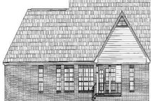 Dream House Plan - Traditional Exterior - Rear Elevation Plan #21-178