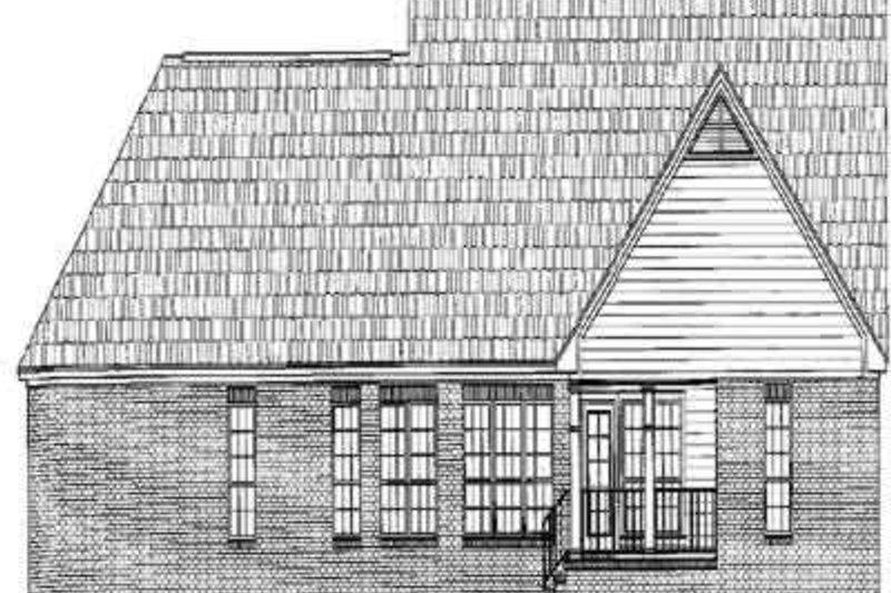 Traditional Exterior - Rear Elevation Plan #21-178 - Houseplans.com