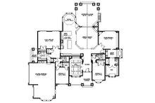 Craftsman Floor Plan - Main Floor Plan Plan #132-205
