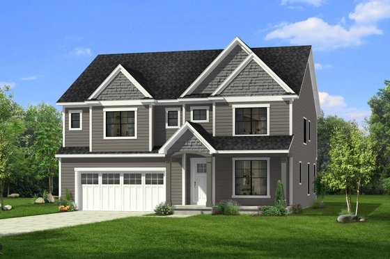 Craftsman Exterior - Front Elevation Plan #1057-31