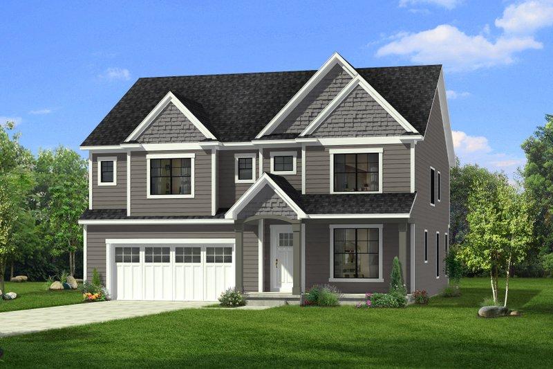 Dream House Plan - Craftsman Exterior - Front Elevation Plan #1057-31