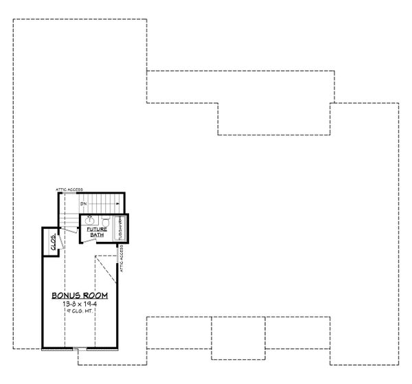 Farmhouse Floor Plan - Upper Floor Plan Plan #430-199