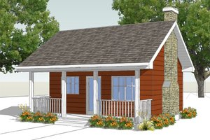 Cottage Exterior - Front Elevation Plan #18-4522
