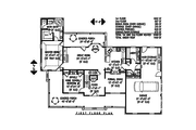 Country Style House Plan - 4 Beds 2.5 Baths 2599 Sq/Ft Plan #11-215 Floor Plan - Main Floor Plan