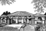 European Style House Plan - 4 Beds 3 Baths 2660 Sq/Ft Plan #417-307 Exterior - Front Elevation
