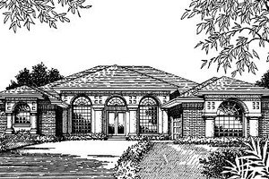 European Exterior - Front Elevation Plan #417-307