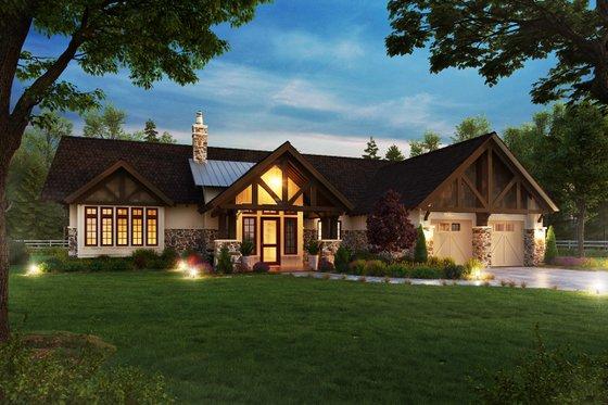 Craftsman Exterior - Front Elevation Plan #942-58