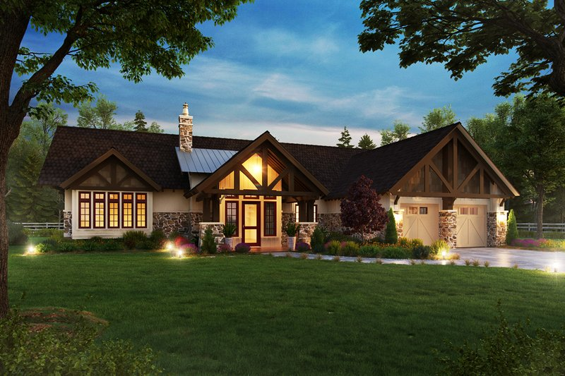Home Plan - Craftsman Exterior - Front Elevation Plan #942-58