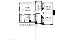 Craftsman Floor Plan - Upper Floor Plan Plan #70-1133