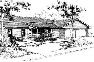 Ranch Exterior - Front Elevation Plan #60-142