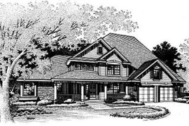 Traditional Exterior - Other Elevation Plan #50-199 - Houseplans.com