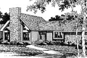 Modern Style House Plan - 3 Beds 2 Baths 2473 Sq/Ft Plan #10-252 Exterior - Front Elevation