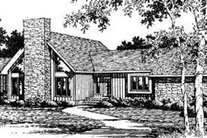 Modern Exterior - Front Elevation Plan #10-252
