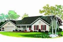 House Blueprint - Ranch Exterior - Front Elevation Plan #72-340