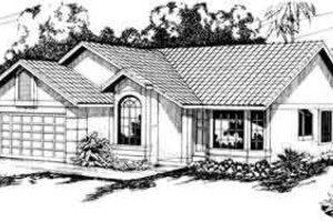 Exterior - Front Elevation Plan #124-221