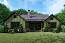 Architectural House Design - Farmhouse Exterior - Rear Elevation Plan #923-153