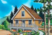 Country Style House Plan - 1 Beds 1 Baths 1003 Sq/Ft Plan #312-438 Exterior - Front Elevation