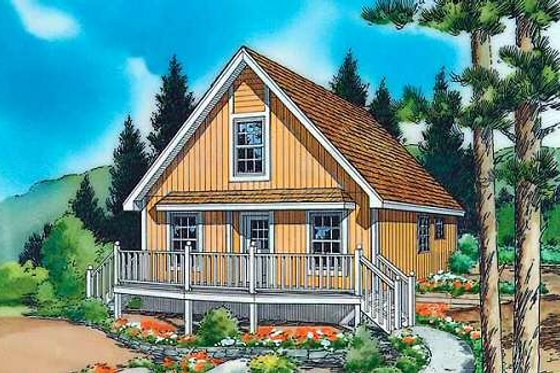 Country Exterior - Front Elevation Plan #312-438