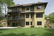 European Style House Plan - 5 Beds 4.5 Baths 3970 Sq/Ft Plan #56-593 Exterior - Rear Elevation