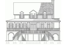 Southern Exterior - Rear Elevation Plan #137-254