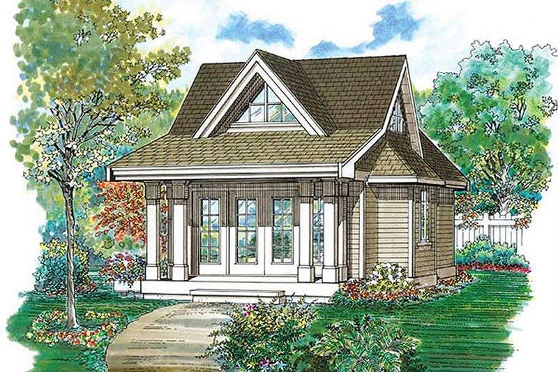 House Blueprint - Cottage Exterior - Front Elevation Plan #47-641