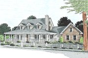 Country Style House Plan - 3 Beds 2.5 Baths 1675 Sq/Ft Plan #20-146 Exterior - Front Elevation