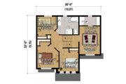 Country Style House Plan - 3 Beds 1 Baths 1760 Sq/Ft Plan #25-4299 Floor Plan - Upper Floor Plan