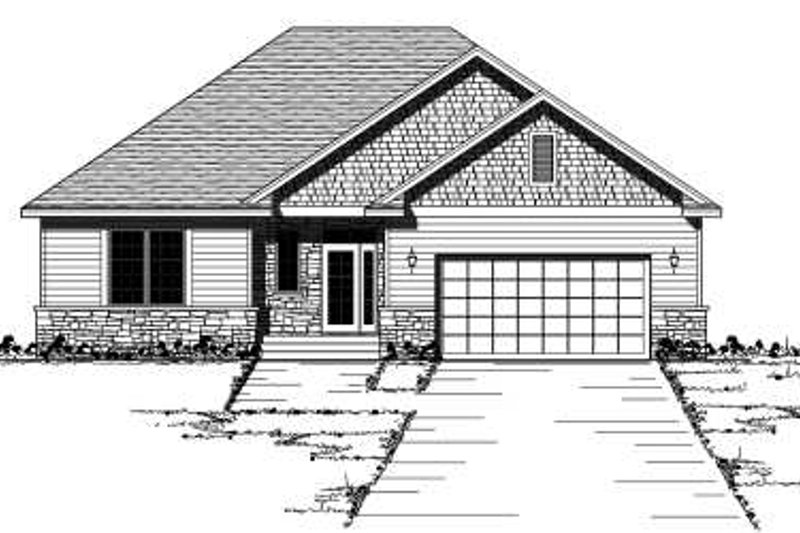 European Exterior - Front Elevation Plan #51-233