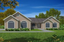 House Plan Design - Ranch Exterior - Front Elevation Plan #437-67