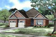 European Style House Plan - 3 Beds 2 Baths 1480 Sq/Ft Plan #17-190 Exterior - Front Elevation