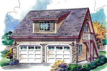Bungalow Exterior - Front Elevation Plan #18-4527