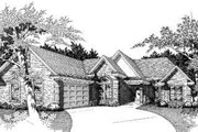 European Style House Plan - 4 Beds 2 Baths 2170 Sq/Ft Plan #329-101 Exterior - Front Elevation