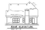 Country Style House Plan - 3 Beds 3 Baths 1905 Sq/Ft Plan #20-1227 Exterior - Rear Elevation