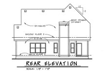 Home Plan Design - Country Exterior - Rear Elevation Plan #20-1227