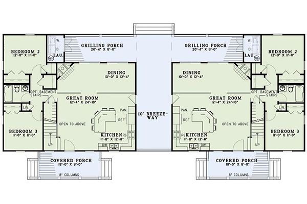 Cottage Floor Plan - Main Floor Plan Plan #17-2565