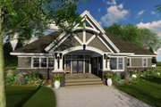 Cottage Style House Plan - 4 Beds 3 Baths 2465 Sq/Ft Plan #51-568 Exterior - Rear Elevation