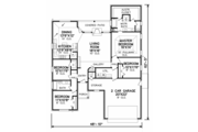 Traditional Style House Plan - 4 Beds 2 Baths 1845 Sq/Ft Plan #65-403 Floor Plan - Main Floor Plan