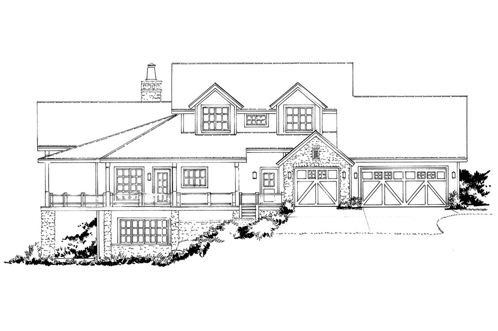 country style house plan - 4 beds 4 5 baths 3141 sq  ft plan  942-56
