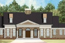 Colonial Exterior - Front Elevation Plan #119-328